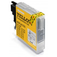Brother LC980 / LC985 / LC1100 High Capacity Compatible Yellow Ink Cartridge