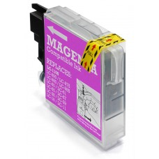 Brother LC980 / LC985 / LC1100 High Capacity Compatible Magenta Ink Cartridge