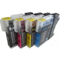 Brother LC980/LC985/LC1100 Full Set Compatible Cartridges BCMY