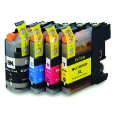 Brother LC127XL BK & LC125XL CMY High Capacity Full Set Of Compatible Cartridges